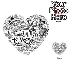 Panic! At The Disco Lyric Quotes Playing Cards 54 (heart)  by Onesevenart