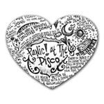 Panic! At The Disco Lyric Quotes Heart Mousepads