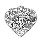 Panic! At The Disco Lyric Quotes Dog Tag Heart (Two Sides)