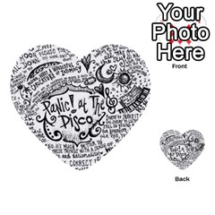 Panic! At The Disco Lyric Quotes Multi Purpose Cards (heart)  by Onesevenart