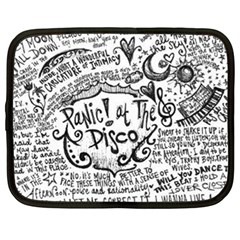 Panic! At The Disco Lyric Quotes Netbook Case (large) by Onesevenart