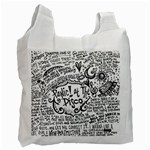 Panic! At The Disco Lyric Quotes Recycle Bag (Two Side)
