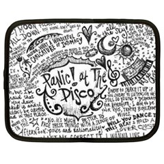 Panic! At The Disco Lyric Quotes Netbook Case (xl)  by Onesevenart