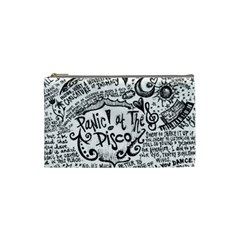 Panic! At The Disco Lyric Quotes Cosmetic Bag (small)  by Onesevenart