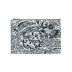 Panic! At The Disco Lyric Quotes Cosmetic Bag (medium)  by Onesevenart