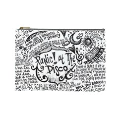 Panic! At The Disco Lyric Quotes Cosmetic Bag (large)  by Onesevenart