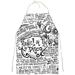 Panic! At The Disco Lyric Quotes Full Print Aprons by Onesevenart
