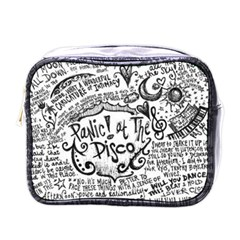 Panic! At The Disco Lyric Quotes Mini Toiletries Bags by Onesevenart