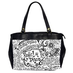 Panic! At The Disco Lyric Quotes Office Handbags (2 Sides)  by Onesevenart