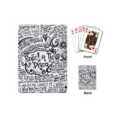 Panic! At The Disco Lyric Quotes Playing Cards (mini)  by Onesevenart
