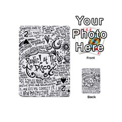Panic! At The Disco Lyric Quotes Playing Cards 54 (mini)  by Onesevenart