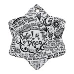 Panic! At The Disco Lyric Quotes Snowflake Ornament (2-Side)