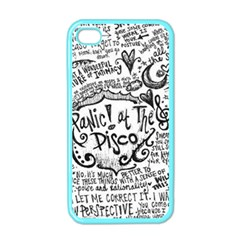 Panic! At The Disco Lyric Quotes Apple Iphone 4 Case (color) by Onesevenart