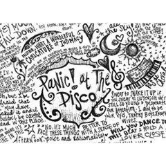 Panic! At The Disco Lyric Quotes Birthday Cake 3d Greeting Card (7x5) by Onesevenart