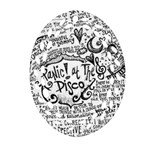 Panic! At The Disco Lyric Quotes Oval Filigree Ornament (2-Side)
