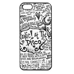 Panic! At The Disco Lyric Quotes Apple Iphone 5 Seamless Case (black) by Onesevenart