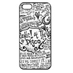 Panic! At The Disco Lyric Quotes Apple iPhone 5 Seamless Case (Black)