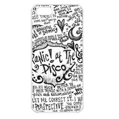 Panic! At The Disco Lyric Quotes Apple Iphone 5 Seamless Case (white) by Onesevenart