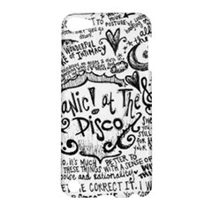 Panic! At The Disco Lyric Quotes Apple Ipod Touch 5 Hardshell Case by Onesevenart