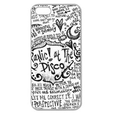 Panic! At The Disco Lyric Quotes Apple Seamless Iphone 5 Case (clear) by Onesevenart