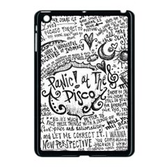 Panic! At The Disco Lyric Quotes Apple Ipad Mini Case (black) by Onesevenart