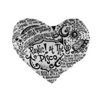 Panic! At The Disco Lyric Quotes Standard 16  Premium Heart Shape Cushions