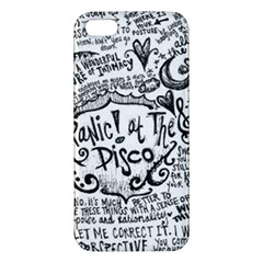 Panic! At The Disco Lyric Quotes Apple Iphone 5 Premium Hardshell Case by Onesevenart