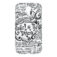 Panic! At The Disco Lyric Quotes Samsung Galaxy S4 I9500/i9505 Hardshell Case by Onesevenart