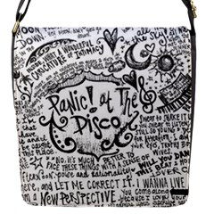 Panic! At The Disco Lyric Quotes Flap Messenger Bag (s) by Onesevenart