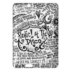 Panic! At The Disco Lyric Quotes Kindle Fire Hdx Hardshell Case by Onesevenart