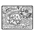 Panic! At The Disco Lyric Quotes Double Sided Fleece Blanket (Small)