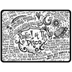 Panic! At The Disco Lyric Quotes Double Sided Fleece Blanket (large)  by Onesevenart