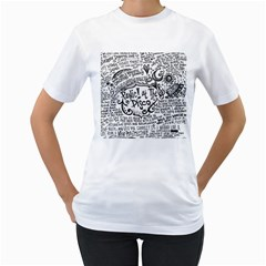 Panic! At The Disco Lyric Quotes Women s T Shirt (white)  by Onesevenart