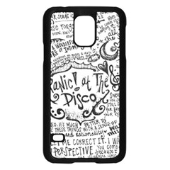 Panic! At The Disco Lyric Quotes Samsung Galaxy S5 Case (black) by Onesevenart