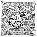 Panic! At The Disco Lyric Quotes Large Flano Cushion Case (One Side)