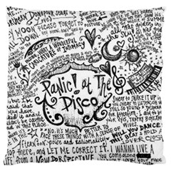 Panic! At The Disco Lyric Quotes Large Flano Cushion Case (two Sides) by Onesevenart