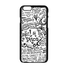 Panic! At The Disco Lyric Quotes Apple Iphone 6/6s Black Enamel Case by Onesevenart