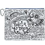 Panic! At The Disco Lyric Quotes Canvas Cosmetic Bag (XXXL)