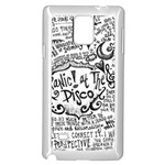Panic! At The Disco Lyric Quotes Samsung Galaxy Note 4 Case (White)