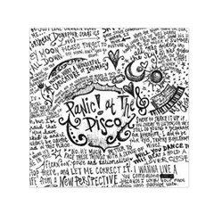 Panic! At The Disco Lyric Quotes Small Satin Scarf (square) by Onesevenart