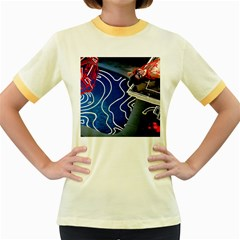 Panic! At The Disco Released Death Of A Bachelor Women s Fitted Ringer T Shirts by Onesevenart