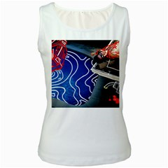 Panic! At The Disco Released Death Of A Bachelor Women s White Tank Top by Onesevenart