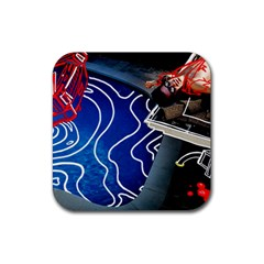 Panic! At The Disco Released Death Of A Bachelor Rubber Square Coaster (4 Pack)  by Onesevenart