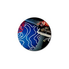 Panic! At The Disco Released Death Of A Bachelor Golf Ball Marker by Onesevenart