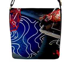 Panic! At The Disco Released Death Of A Bachelor Flap Messenger Bag (l)  by Onesevenart