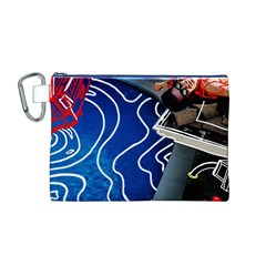 Panic! At The Disco Released Death Of A Bachelor Canvas Cosmetic Bag (m) by Onesevenart