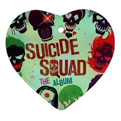 Panic! At The Disco Suicide Squad The Album Ornament (heart)  by Onesevenart