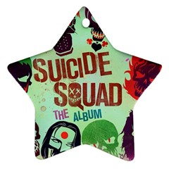 Panic! At The Disco Suicide Squad The Album Ornament (star)  by Onesevenart
