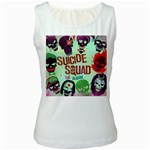Panic! At The Disco Suicide Squad The Album Women s White Tank Top