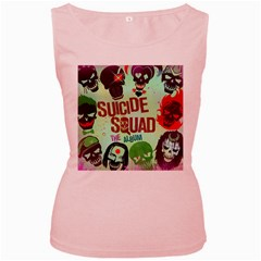Panic! At The Disco Suicide Squad The Album Women s Pink Tank Top by Onesevenart